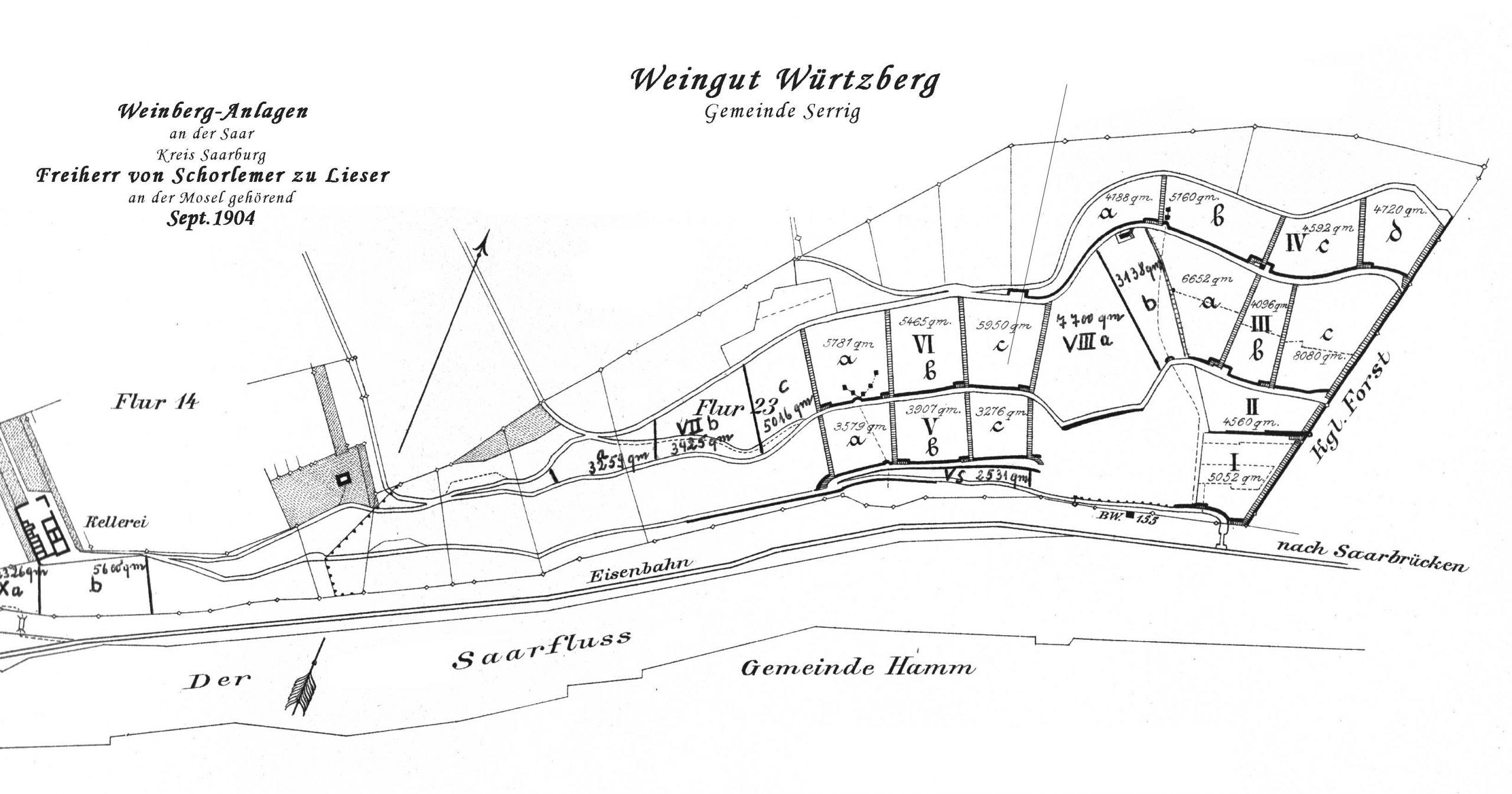 (Deutsch) Grosse Lagen: Parzellen Karte von 1904